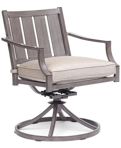 Wayland Outdoor Swivel Chair with Sunbrella® Cushion, Created for Macy's