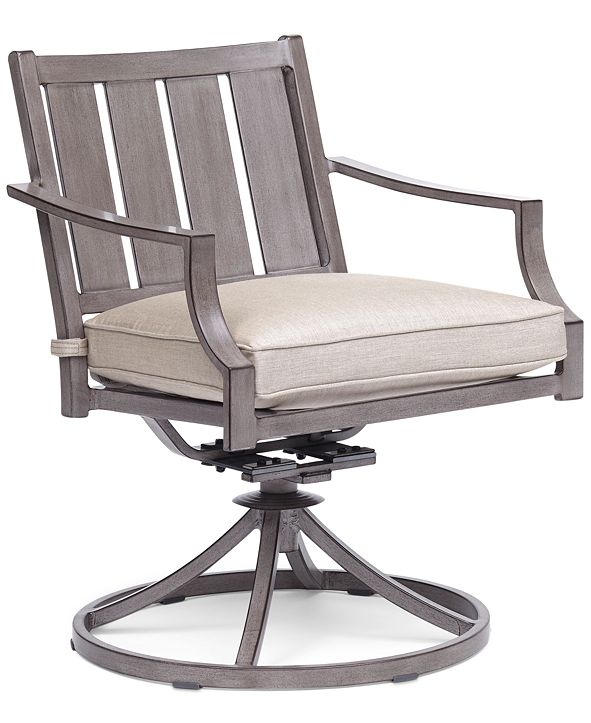 Furniture Wayland Outdoor Swivel Chair with Sunbrella® Cushion, Created for Macy's