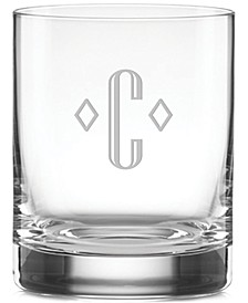 Tuscany Federal Monogram 4-Pc. Double Old Fashioned Glass Set