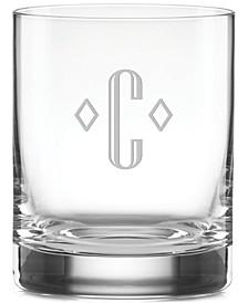 Lenox Tuscany Federal Monogram 4-Pc. Double Old Fashioned Glass Set