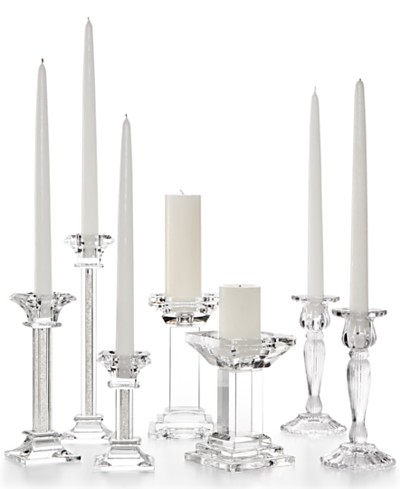 Godinger Lighting by Design Assorted Crystal Candle Holder Collection