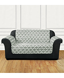 Sure Fit Furniture Flair Quilted Loveseat Slipcover