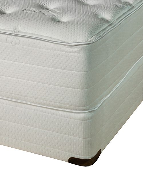 Nature's Spa by Paramount Exhale Latex 16'' Plush Mattress Set- Full