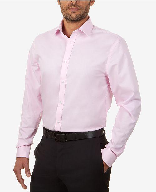 c7d93fb817 Tommy Hilfiger Men s Slim-Fit Non-Iron Solid Dress Shirt   Reviews ...