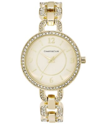 Image of Charter Club Crystal Bracelet Watch 33mm, Only at Macy's