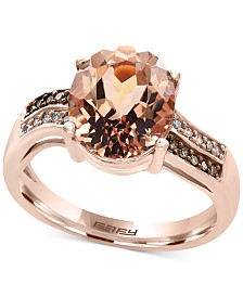EFFY® Final Call Morganite (3-1/10 ct. t.w.) and Diamond Accent Ring in 14k Rose Gold