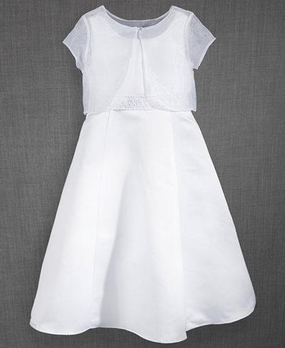 Blush by Us Angels 2-Pc. Shrug & Communion Dress Set, Big Girls (7-16)