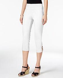 Petite Lattice-Hem Capri Pants, Created for Macy's