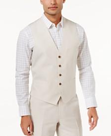 I.N.C. Men's Linen Blend Vest, Created for Macy's