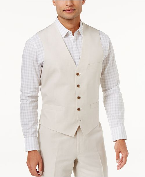 INC International Concepts INC Men's Linen Blend Vest, Created for Macy's