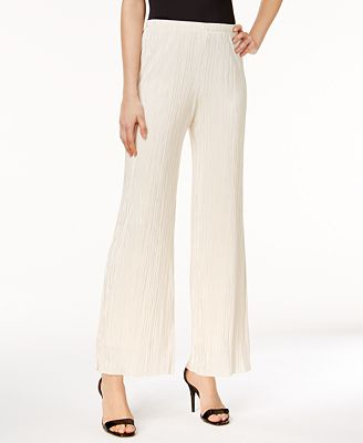MSK Crinkled Wide-Leg Pants