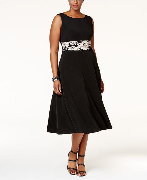 896421fb742ff Jessica Howard. Plus Size Empire-Waist Dress   Printed Jacket. 29 reviews.  main image  main image  main image ...