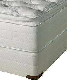 "Nature's Spa by Paramount Oasis Latex 13"" Plush Pillow Top Mattress Set- Queen Split"