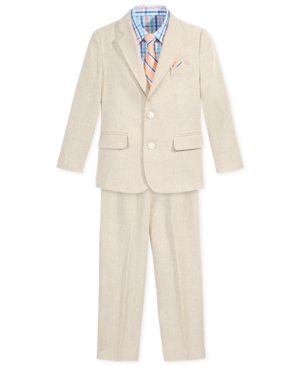 1930s Childrens Fashion: Girls, Boys, Toddler, Baby Costumes Nautica 4-Pc. Herringbone Linen Suit Set Toddler  Little Boys 2T-7 $43.99 AT vintagedancer.com