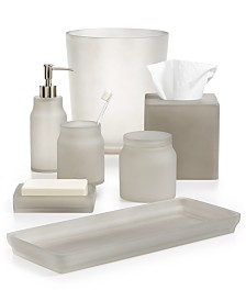 Martha Stewart Collection Frosted Cobblestone Bath Accessories Only At Macy S