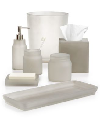 martha stewart collection frosted cobblestone bath accessories created for macyu0027s