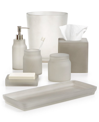 Closeout martha stewart collection frosted cobblestone bath accessories created for macy 39 s Martha stewart bathroom collection