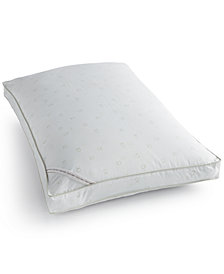 Calvin Klein Tossed Logo Print Extra Firm Down Alternative Gusset King Pillow, Hypoallergenic
