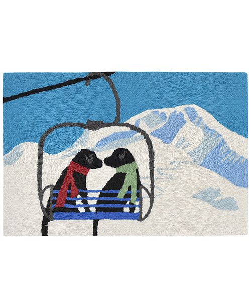 Liora Manne' Liora Manne Front Porch Indoor/Outdoor Ski Lift Love Winter 2' x 3' Area Rug