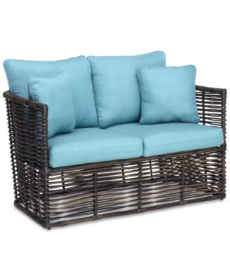 Bahiya Wicker Outdoor Loveseat