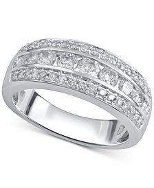 Diamond Band (1 ct. t.w.) in 14k White Gold