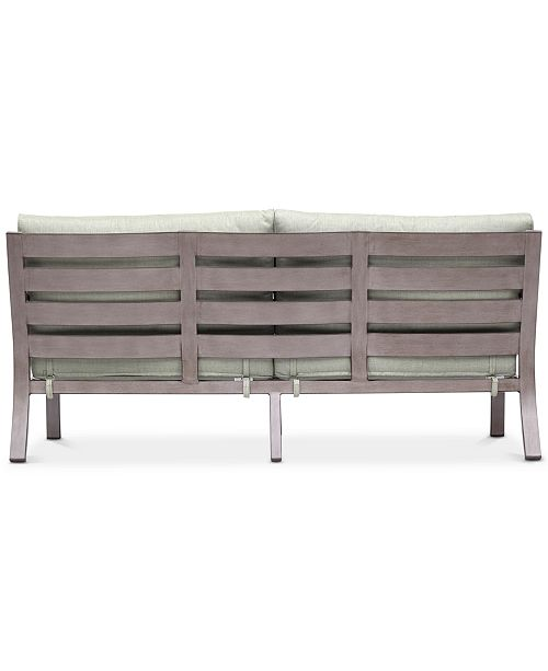 Furniture Tara Aluminum Outdoor Sofa Created For Macy S