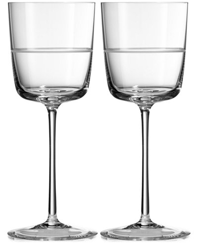 Vera Wang Wedgwood Bande Wine Glass Pair