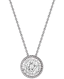 Diamond Pendant Necklace (1/2 ct. t.w.) in 14k White Gold