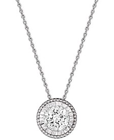 TruMiracle® Diamond Pendant Necklace (1/2 ct. t.w.) in 14k White Gold