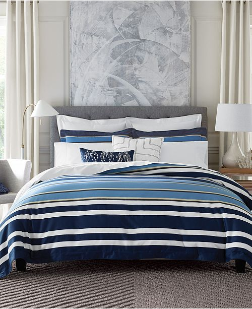 e6f51636f Tommy Hilfiger CLOSEOUT! Robinson Stripe Bedding Collection, Created for  Macy's