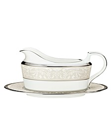 """""""Silver Palace"""" Gravy Boat with Stand"""