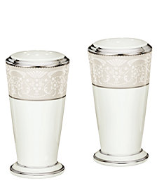 "Noritake ""Silver Palace"" Salt & Pepper Set"