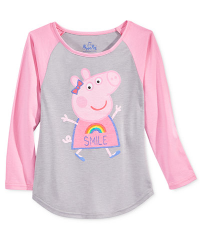 Nickelodeon's Peppa Pig Graphic Raglan T-Shirt, Toddler & Little Girls (2T-6X)