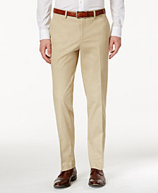 CLOSEOUT! Bar III Men's Slim-Fit Tan Stretch Pants, Created for Macy's