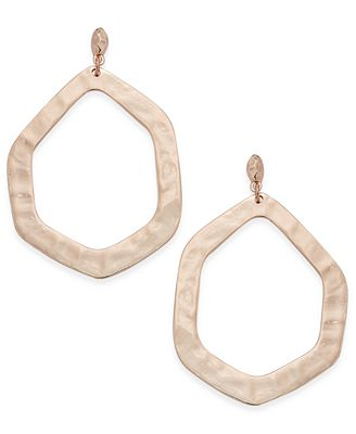 INC International Concepts Rose Gold-Tone Geometric Drop Earrings, Only at Macy's