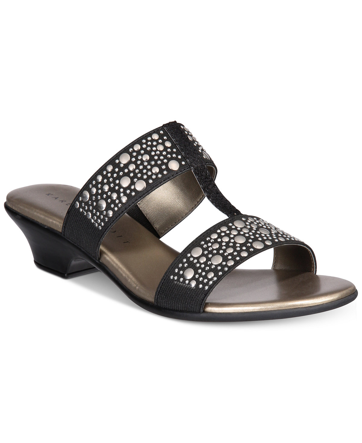 Karen Scott Eddina Embellished Slide Sandals