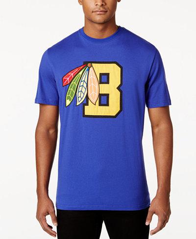 Black Pyramid Men's Feather Letter Appliqué T-Shirt