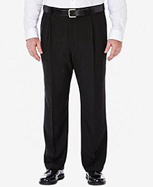Men's Big & Tall Eclo Stria Classic-Fit Pleated Hidden Expandable Waistband Dress Pants