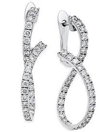 Diamond Infinity Drop Earrings (1-1/3 ct. t.w.) in 14k White Gold