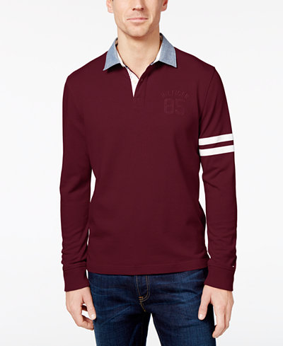 Tommy hilfiger men 39 s big tall richmond rugby shirt for Big and tall polo rugby shirts
