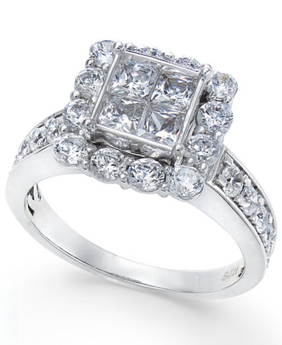 Diamond Quad Engagment Ring (2 ct. t.w.) in 14k White Gold