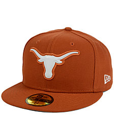 New Era Texas Longhorns Bevel Team Fitted 59FIFTY Fitted Cap