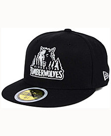 New Era Kids' Minnesota Timberwolves Black White 59FIFTY Cap