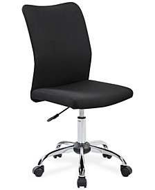 Hastin Modern Armless Task Chair, Quick Ship