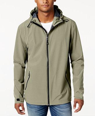 32 Degrees Men S Storm Tech Hooded Rain Jacket Coats