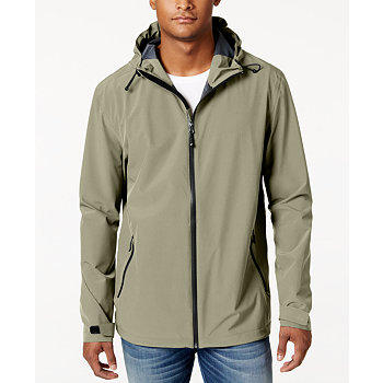 32 Degrees Mens Storm Tech Hooded Rain Jacket