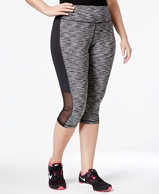 Ideology Plus Size Space-Dyed Cropped Leggings, Created for Macy's ...