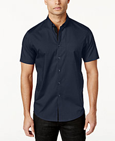 I.N.C. Men's Short Sleeve Stretch Shirt, Created for Macy's