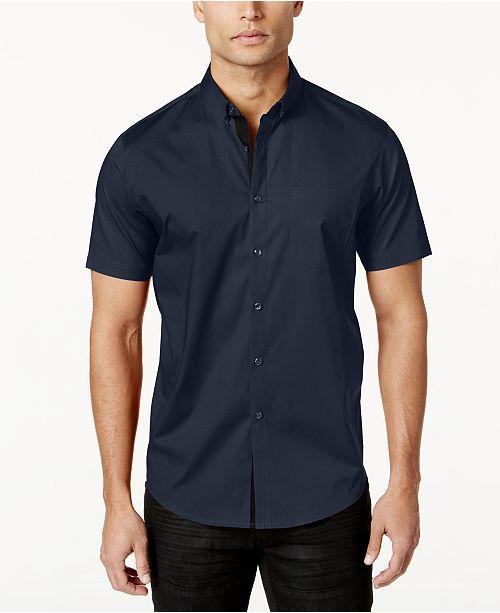 db34e8ec2a63c INC International Concepts I.N.C. Men s Short Sleeve Stretch Shirt ...