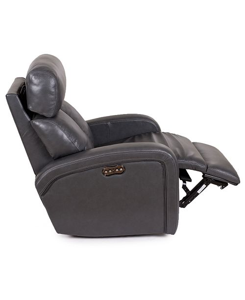 Brilliant Criss Leather Power Recliner With Power Headrest And Usb Power Outlet Alphanode Cool Chair Designs And Ideas Alphanodeonline
